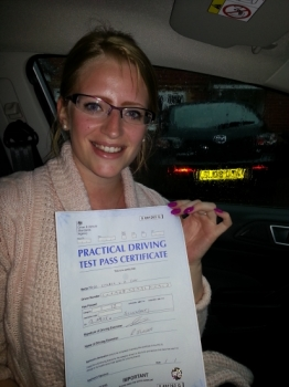 13 August 2015 - Cheryl passed 1st time with only 6 minor driving faults! Well done Cheryl, that was a really good result....