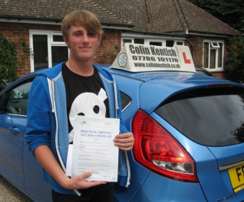 13 August 2012 - Kyle passed with only 4 minor driving faults! Well done Kyle, that was an excellent and well deserved result....