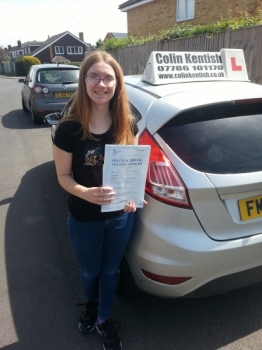 22 May 2017 - Jasmine passed in Sevenoaks on her 2nd attempt. Well done Jasmine, that was a really good and well deserved result....