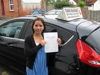 26 September 2013 - Weng passed 1st time with only 4 minor driving faults! Well done Weng, that was a great result.