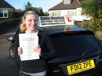 26 November 2013 - Hannah passed 1st time with only 4 minor driving faults! Well done Hannah, that was an excellent result.