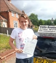 29 July 2013 - Shaun passed with only 2 minor driving faults! Well done Shaun, that was an excellent result....