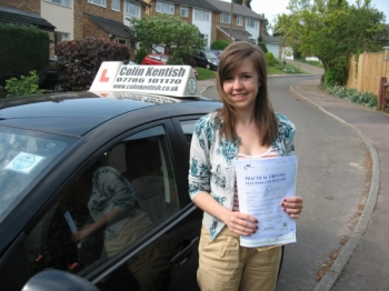 28 April 2011 - Hannah passed first time with just 5 minor driving faults. As your Examiner said,