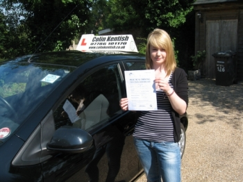 04 July 2011 - Zoe passed first time with just 2 minor driving faults. Well done Zoe, that was an excellent result....