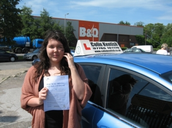 10 August 2011 - Jodie passed first time with just 5 minor driving faults. Well done Jodie, that was an excellent result....