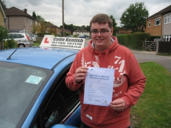 30 August 2011 - 'I am so glad that I passed my driving test first time! I couldn't have done it without Colin's great teaching techniques and patience.     I have been learning with Colin since January 2011 and passed first time in August. I had previously been learning with another instructor from May 2010 to December 2010, however I was not pr...