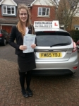 Lizzie Fox passed with Colin Kentish Driver Training