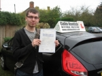 Tom Walker passed with Colin Kentish Driver Training