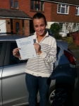 Kate Hair passed with Colin Kentish Driver Training