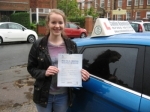 Lizzie Bishop passed with Colin Kentish Driver Training