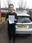 Ben Bishop passed with Colin Kentish Driver Training