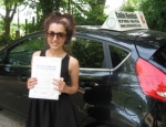 Ghazaleh Ghodrati passed with Colin Kentish Driver Training