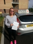 Becky Monaghan passed with Colin Kentish Driver Training