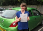 Sophie Simpson passed with Colin Kentish Driver Training