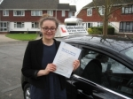 Emily Wootton passed with Colin Kentish Driver Training