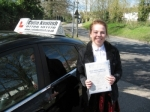 Hannah Ginsberg passed with Colin Kentish Driver Training