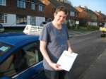 William Hutchings passed with Colin Kentish Driver Training