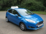 New Ford Fiesta 1.6 tdci Econetic II Titanium passed with Colin Kentish Driver Training