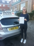 Joanna Dunn passed with Colin Kentish Driver Training