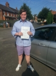 Will Lipscombe passed with Colin Kentish Driver Training