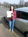 Yasmin Jarvis passed with Colin Kentish Driver Training