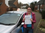 Jenny Mote passed with Colin Kentish Driver Training