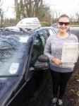 Aijan Esenakunova passed with In 2 Driving School Of Motoring