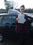Amy Harding passed with In 2 Driving School Of Motoring