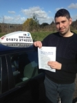 George Harrold passed with In 2 Driving School Of Motoring