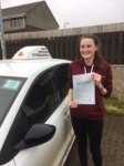 Jasmine Jacka passed with In 2 Driving School Of Motoring