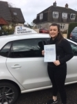 Jess Millar passed with In 2 Driving School Of Motoring