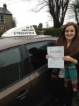 Kate Powell passed with In 2 Driving School Of Motoring