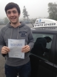 Kieron Butter passed with In 2 Driving School Of Motoring