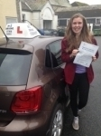 Milly Lytham passed with In 2 Driving School Of Motoring
