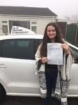 Molly Richards passed with In 2 Driving School Of Motoring