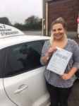 Natasha Mackay passed with In 2 Driving School Of Motoring