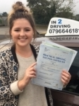 Olivia Brown passed with In 2 Driving School Of Motoring