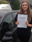 Poppy Rangecroft passed with In 2 Driving School Of Motoring