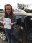 Rebekah Tilbury passed with In 2 Driving School Of Motoring