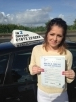 Shannon Rodda passed with In 2 Driving School Of Motoring