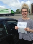 Sophie Kruse passed with In 2 Driving School Of Motoring