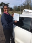 Suzzane Lawler passed with In 2 Driving School Of Motoring