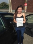 Tegan Barker passed with In 2 Driving School Of Motoring