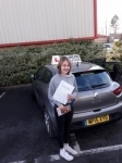 Becca Zikking passed with Rob Milne School Of Motoring