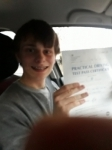 Cameron Crossan passed with Rob Milne School Of Motoring