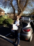 Edward Callow passed with Rob Milne School Of Motoring