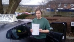 George Dibble passed with Rob Milne School Of Motoring