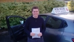 Will Lanfear passed with Rob Milne School Of Motoring