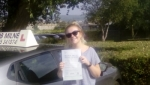April Comer passed with Rob Milne School Of Motoring