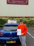 Jordan Williams passed with Rob Milne School Of Motoring